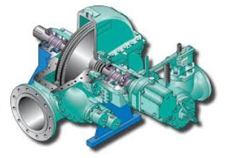 Figura N°13. Fotografía de la turbina de vapor