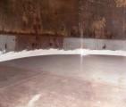 Fotografía 5-A. Prueba de Gas Oil en el interior del tanque.