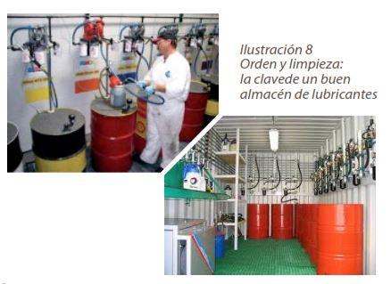 Ilustración 8 Orden y limpieza: la clave de un buen almacén de lubricantes