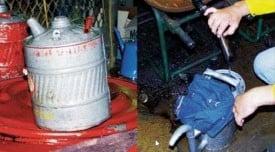 Ilustración 14 El lubricante se puede contaminar fácilmente al manipularlo