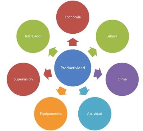Figura 1. Factores influyentes en la productividad