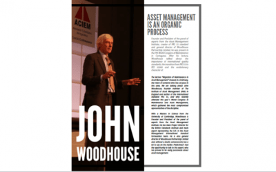 John Woodhouse: Asset Management is an Organic Process