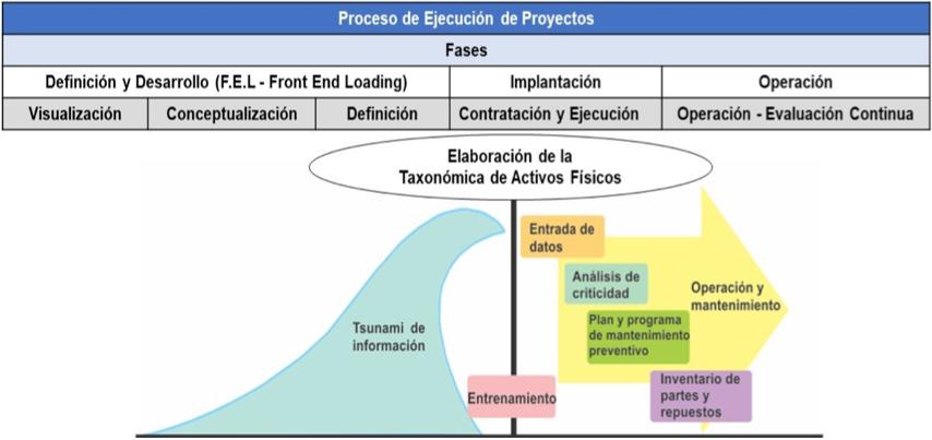 Figura 3.4. Fases de un Proyecto para la Elaboración de la Taxonomía de Activos Físicos.