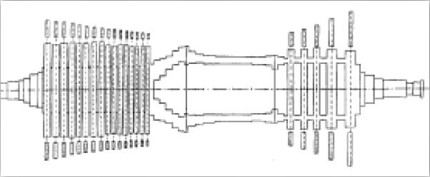 Figura 2. Representación Elastomásica del Rotor