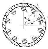 Figura 6. Parámetros para el Cálculo del Momento Transversal de Inercia de la Zona Apernada – Posición Angular 2