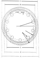Figura 7. Sección del Ensamblaje Apernado - Diámetros Equivalentes