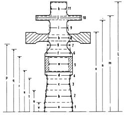 Figura 8. División en Anillos de las Ruedas de Potencia