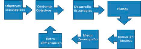 Fig. 1 Bucle de la mejora del desempeño (Campbell, Jardine y McGlynn, 2011) (adaptada y traducción propia)