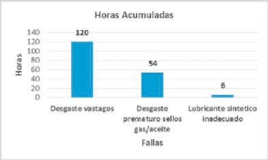 Figura 1. Acumulado de las horas por tipo de fallas