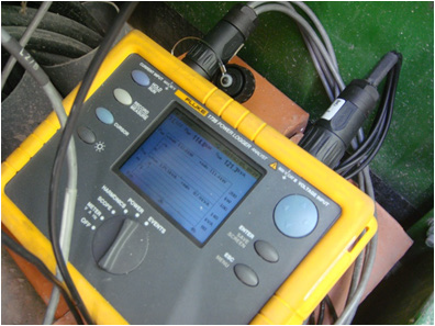 Figura 4. Equipo de medición para auditoria de calidad de potencia.