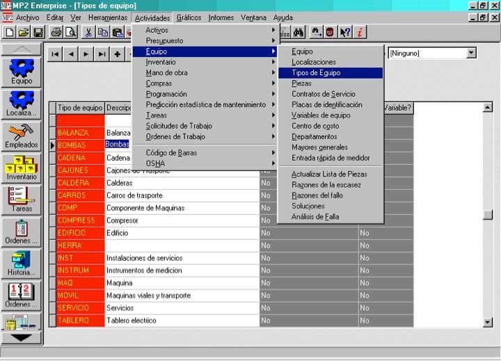 Figura 13 - Modelo de pantalla de consulta a tabla