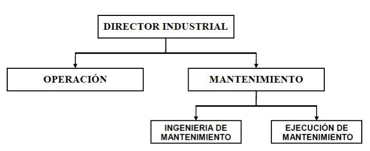 Figura 4 - División organizacional del mantenimiento