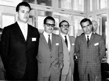 En Suecia, junio de 1962, representando a México en la Conferencia Bianual de proveedores de equipos telefónicos, Estocolmo.