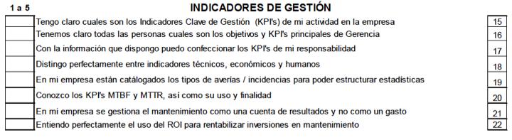 Figura 6- Preguntas del grupo indicadores de gestión