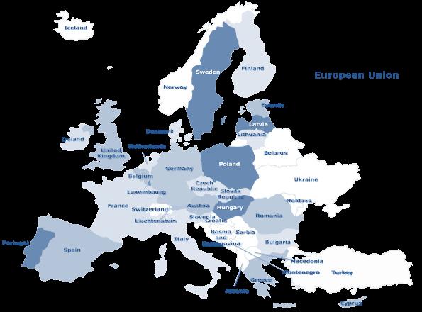 Figura 2. Los organismos de normalización, de los países de la Unión Europea, son miembros del European Committee for Standardization (CEN) y están obligados a adoptar las normas emitidas por este, retirando cualquier norma nacional que contradiga o aborde el mismo tema [cortesía, Radical Management 2015].