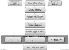 Figura 12. Pasos establecidos en el API RP 581 para el calculo de consecuencias de falla.