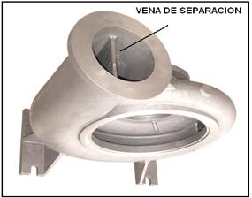 Figura N° 2-16.- Carcasa con doble voluta mostran-do la vena de separación.