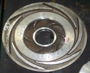 Figura N° 2-20.- Fotografía de un difusor para bombas centrífugas.