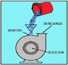 Figura N° 5-1.- Cebado manual de una bomba centrífuga.
