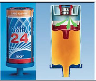 Figura N° 13-5.- Dispensador automático de grasa y su corte.