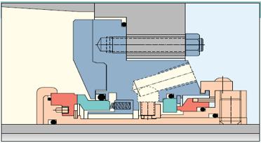Figura N° 15-11.- Diagrama de un sello mecánico en línea.